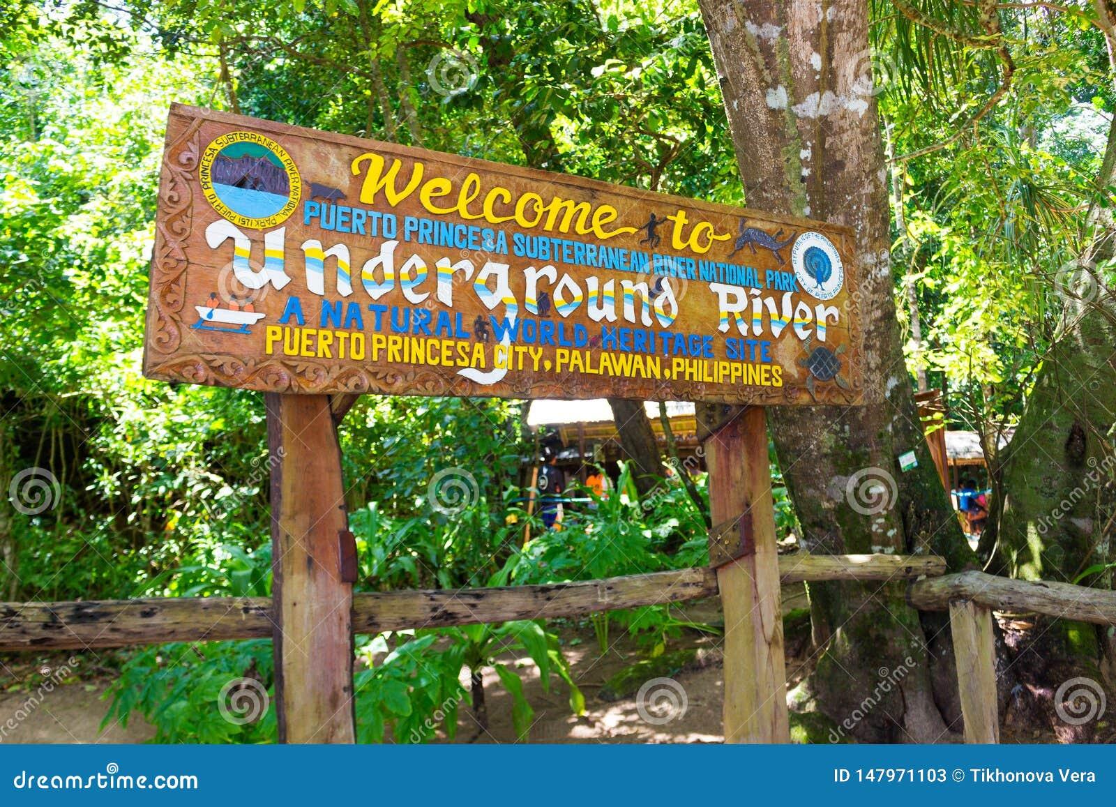 Entrada do rio subterr?neo subterr?neo de Puerto Princesa Palawan