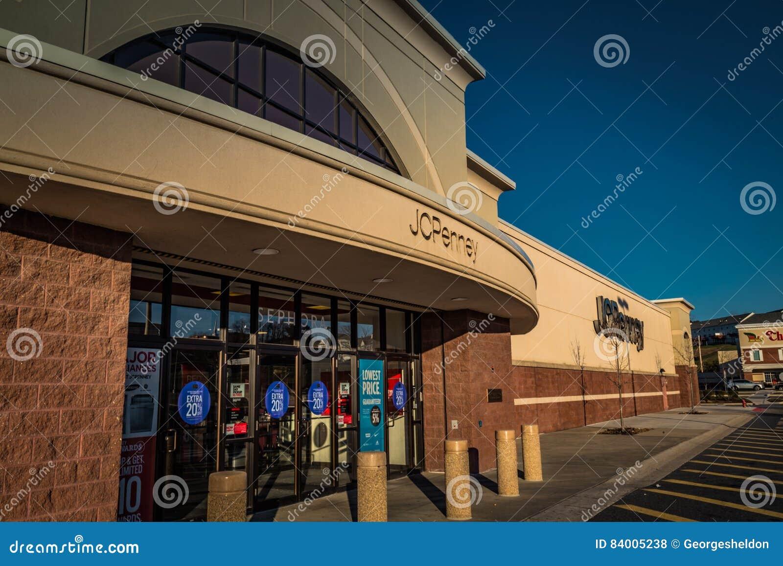 Entrada exterior de JC Penny Department Store