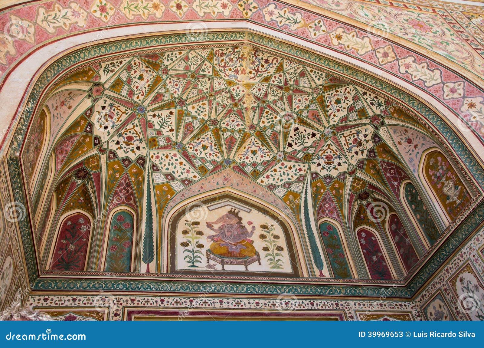 Entrada a Ganesh Pol en Amer Palace