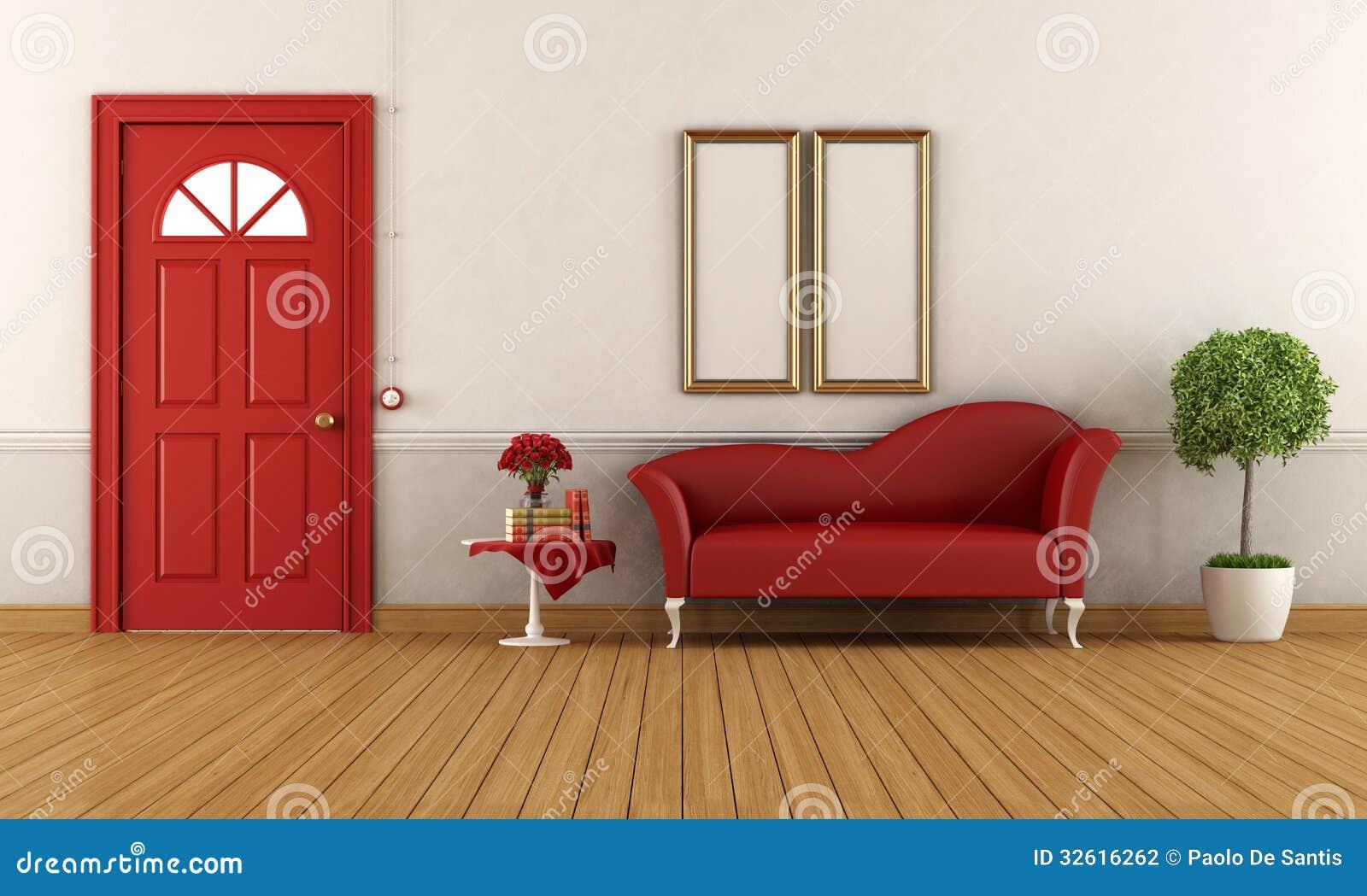 Entrada home vermelha e branca