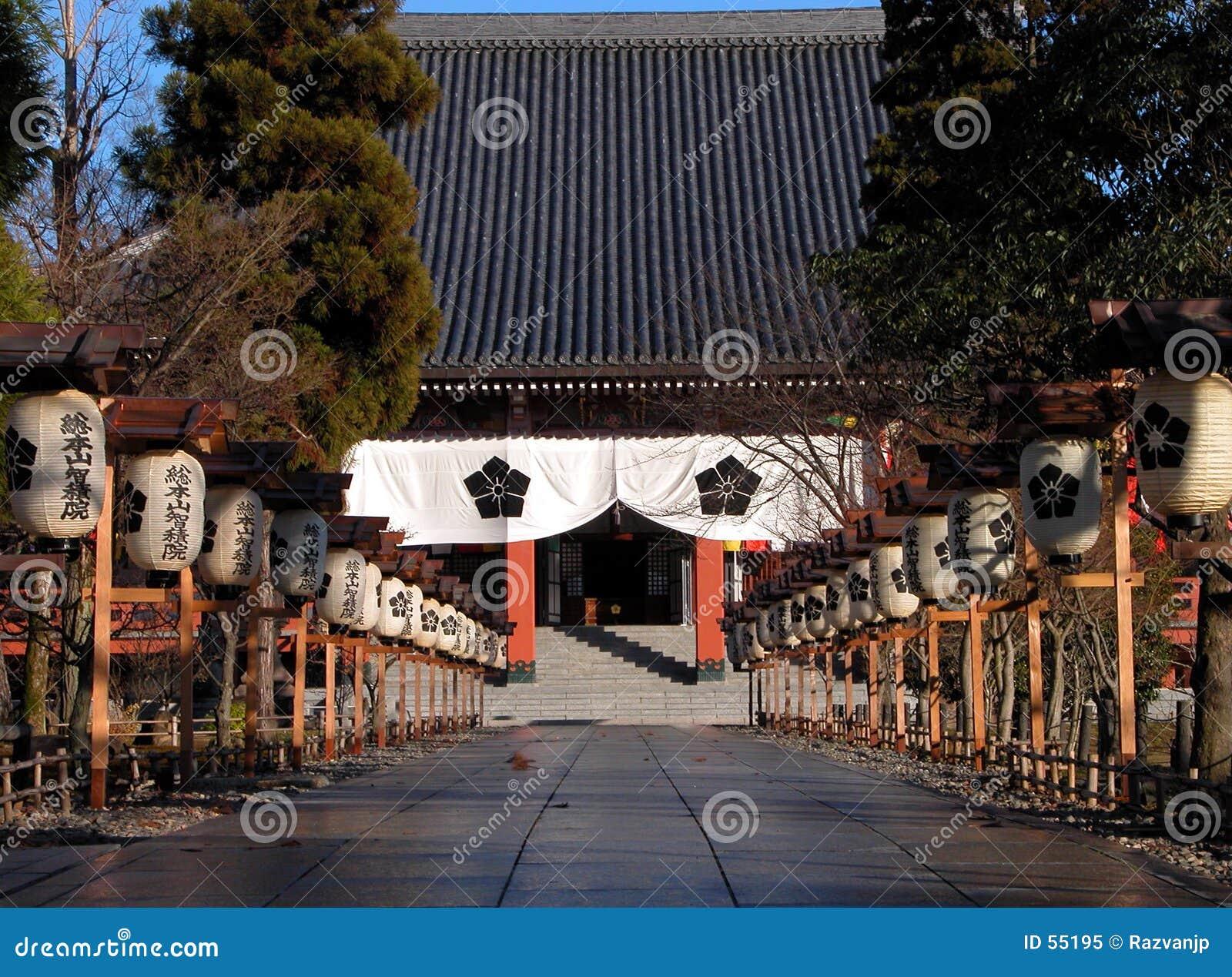 Entrada japonesa do templo