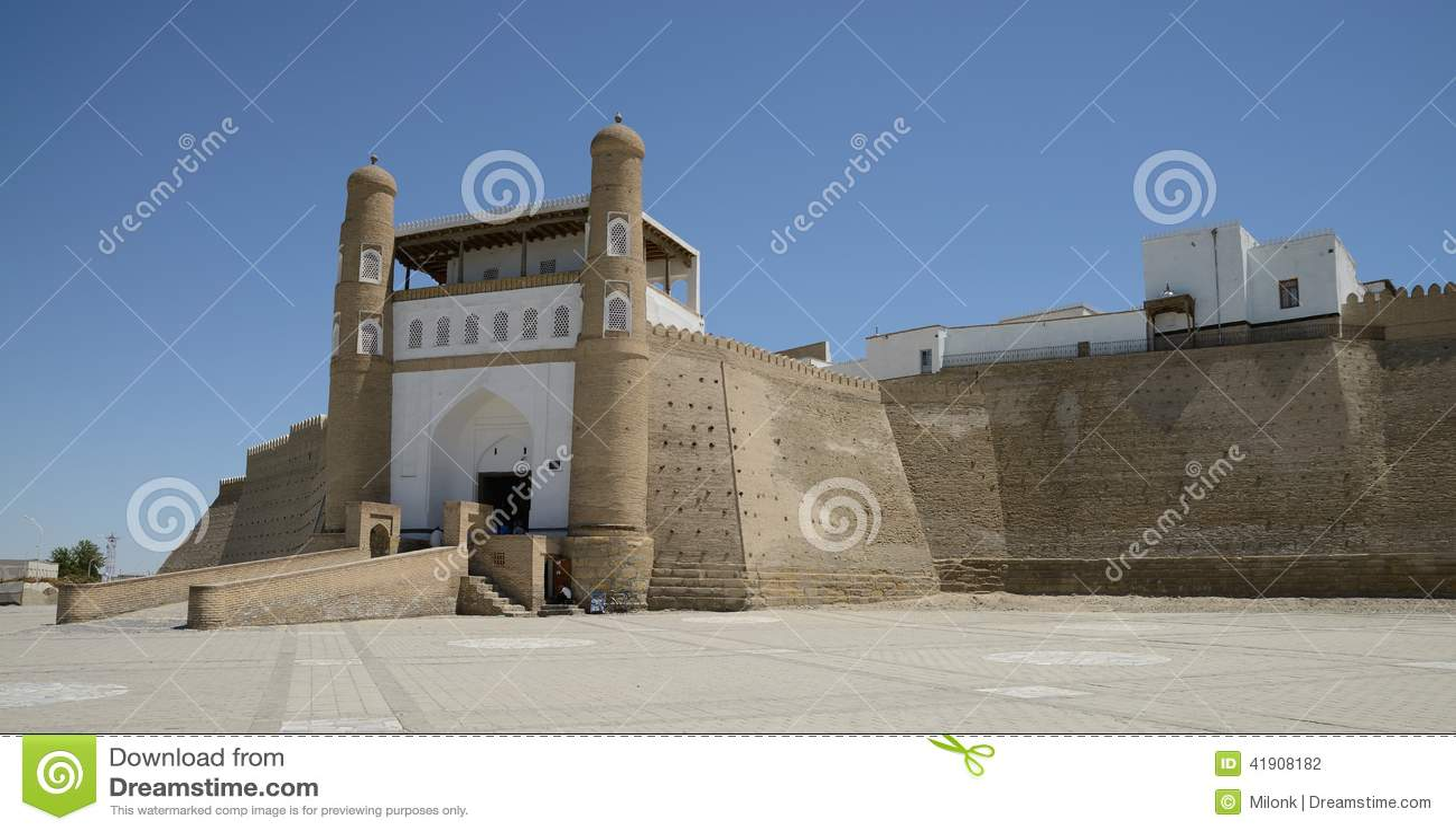 Entrada a la fortaleza de la arca, Bukhara