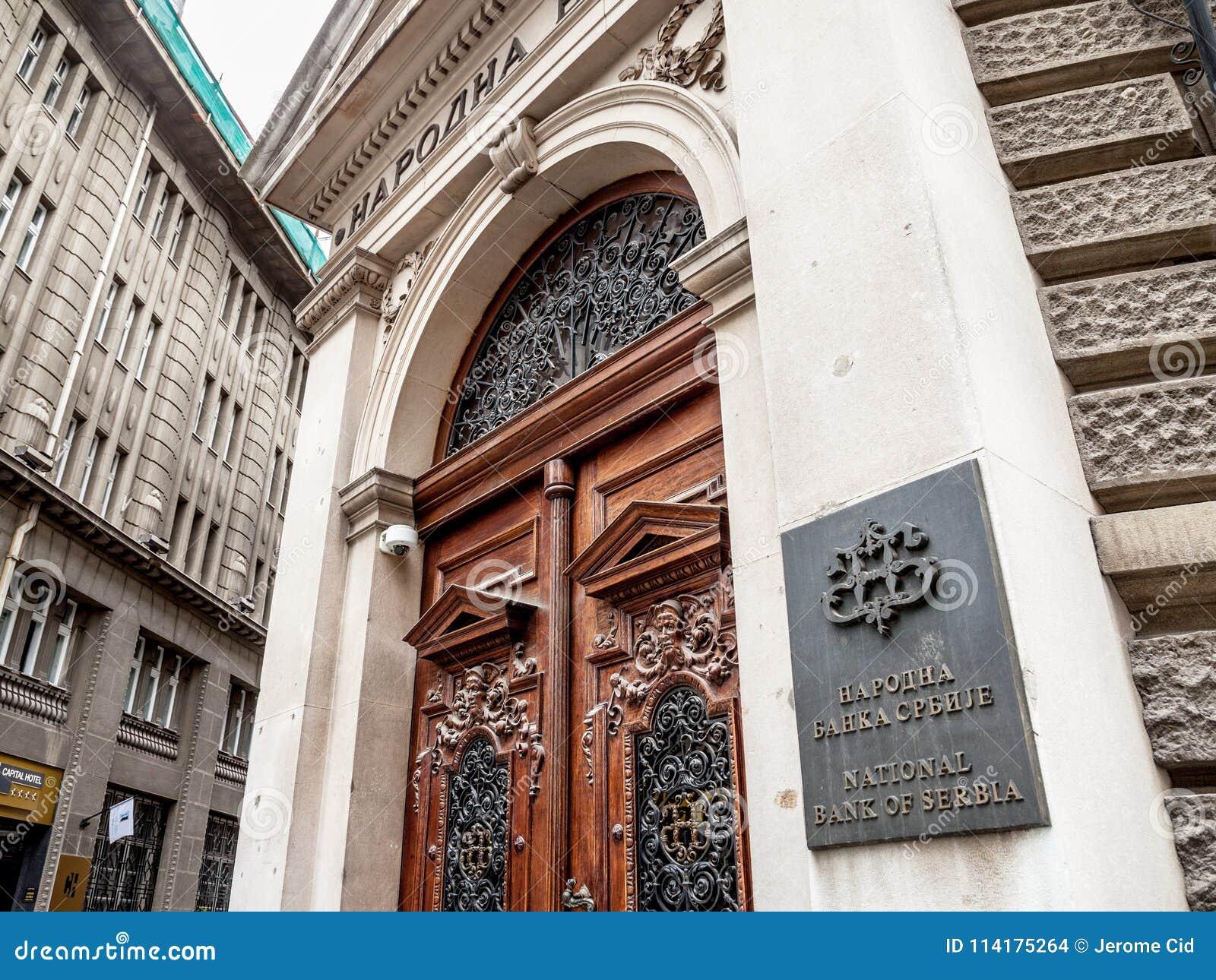Entrada Principal A National Bank Da Servia Nbs Narodna Banka