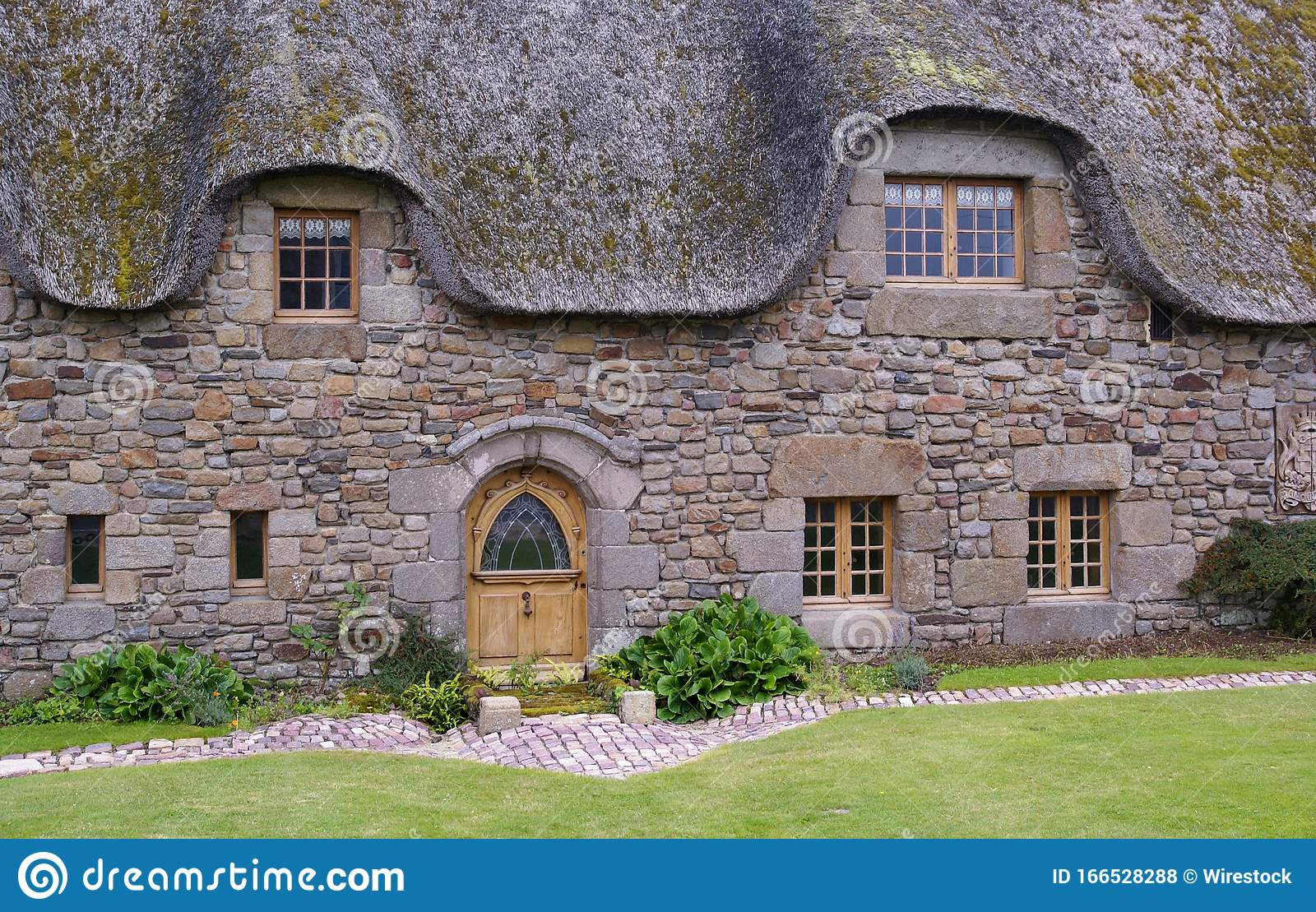 Entrance Of An Ancient Farmhouse With Wooden Doors In Normandy France Stock Photo Image Of Field French 166528288