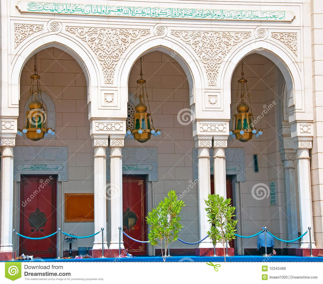 Download Entrance Arches Of A Dubai Mosque Stock Photo - Image of arches, east: 10343468