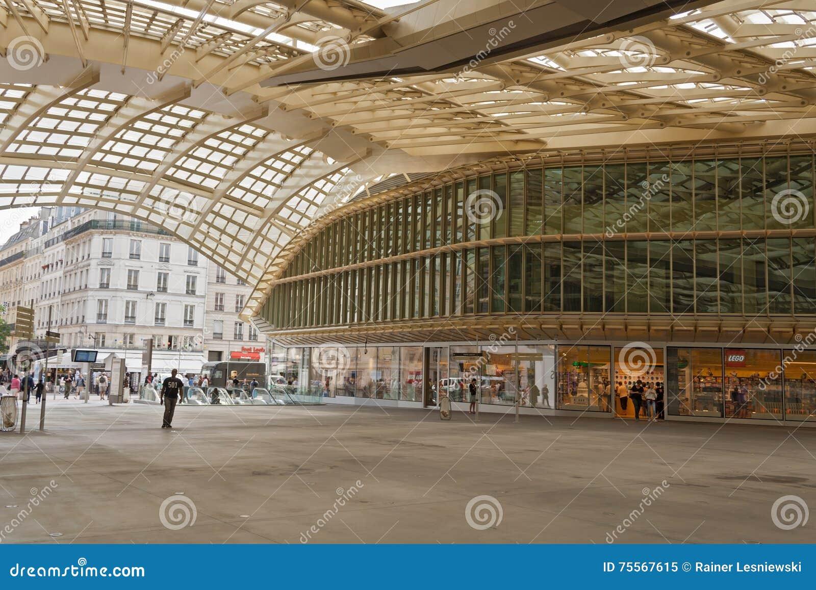Entrance and canopy forum les halles in paris editorial image image of halles forum 75567615 - Forum des halles dimanche ...