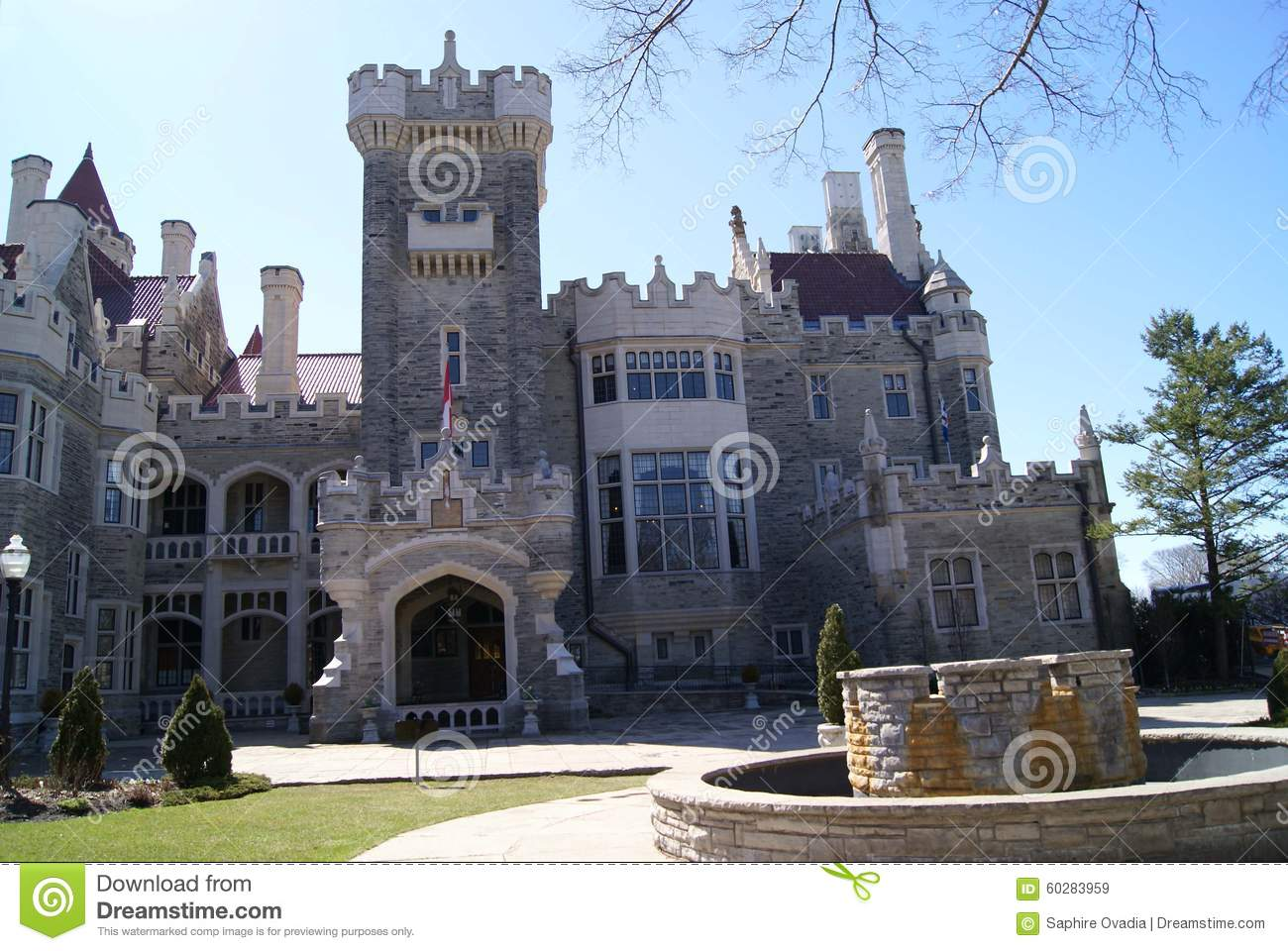A Gothic Revival Style Castle Museum And Landmark In Midtown Toronto Ontario Canada