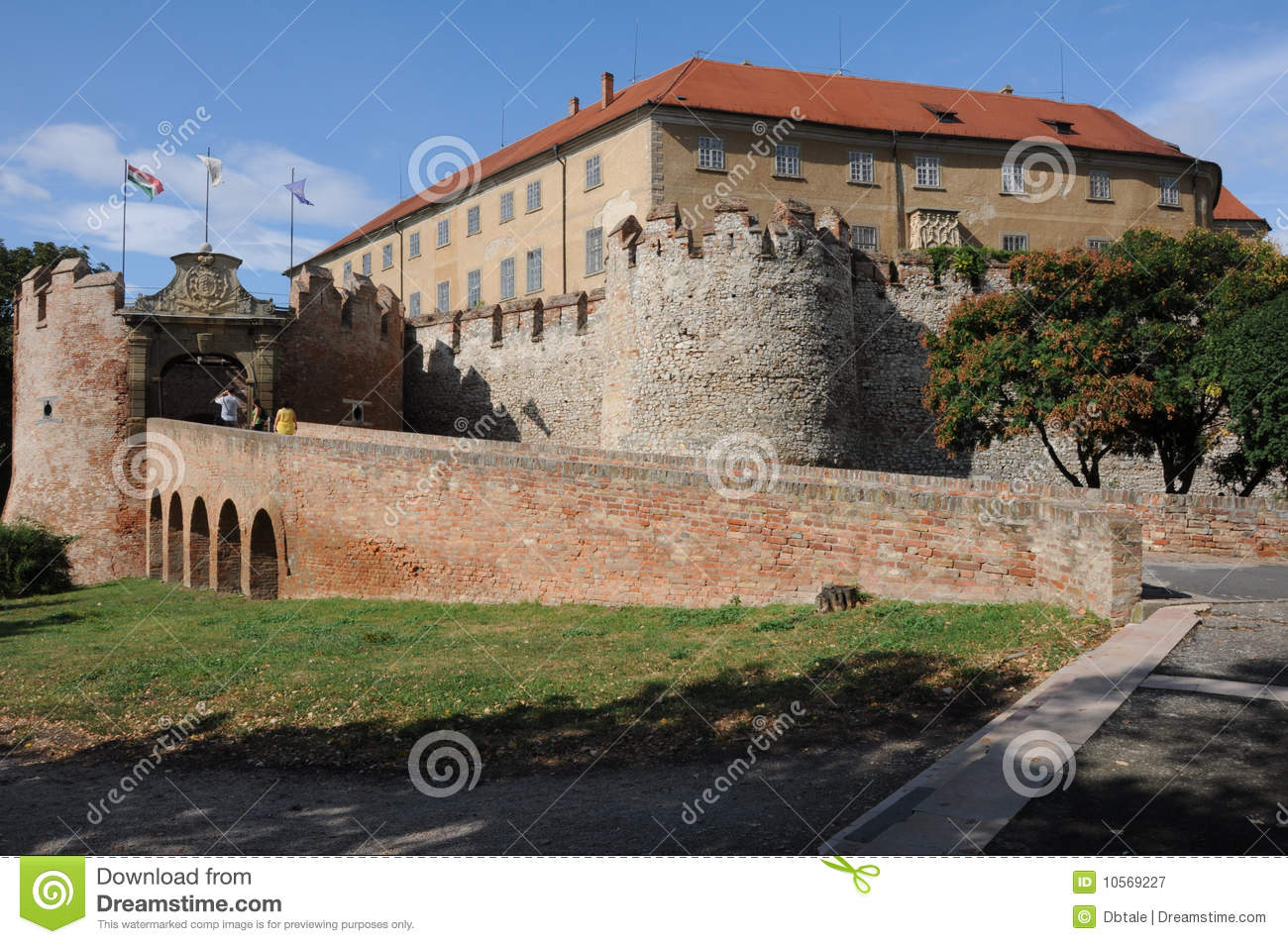 Entrance of castle of Siklos,