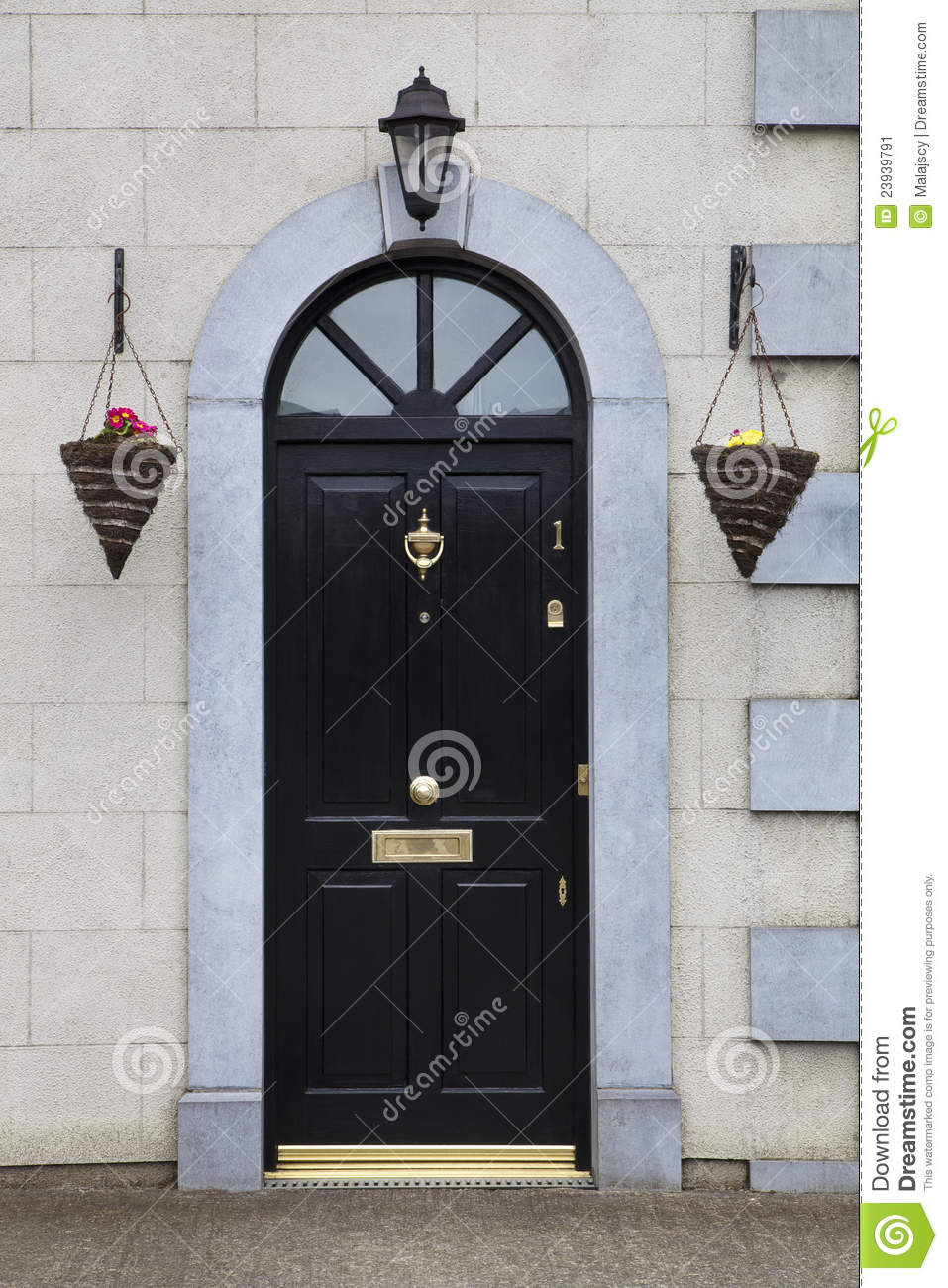 Entrance Door Number 1 stock image. Image of outdoors - 23939791