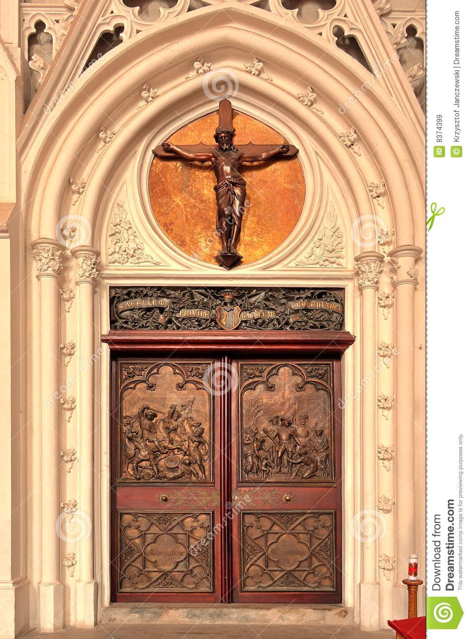 Entrance Door To A Church Stock Image Image Of Decorative