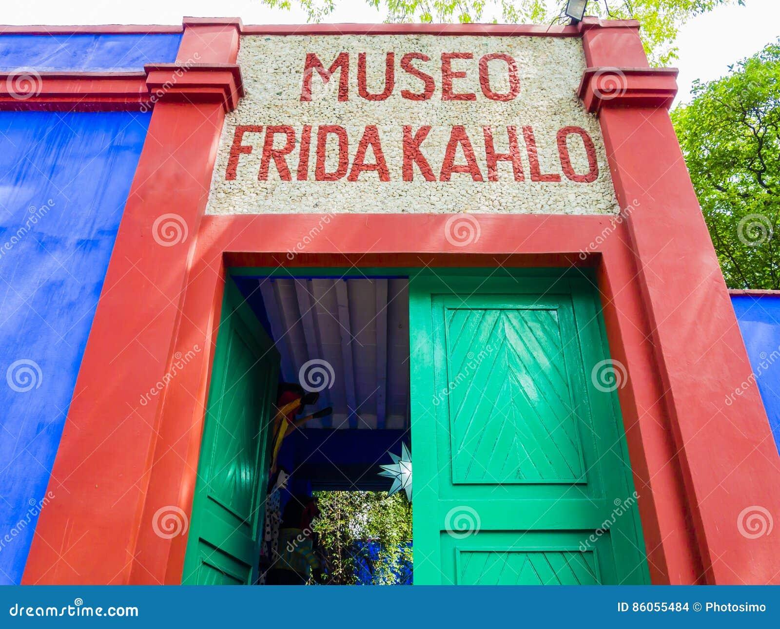 Entrance of Frida Kahlo Museum, Coyoacán borough, Mexico City