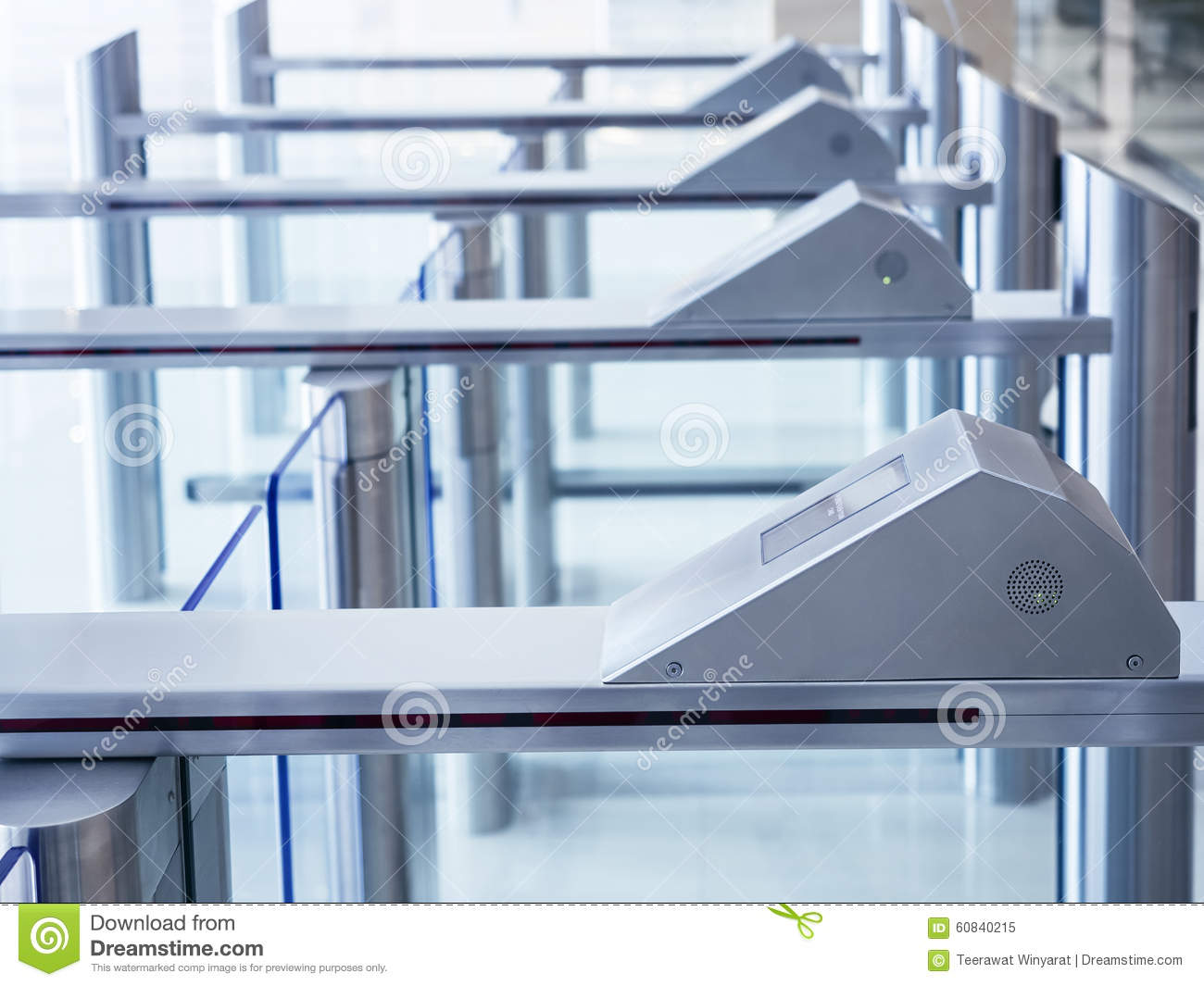 Entrance Gate Access Security System Stock Image Image