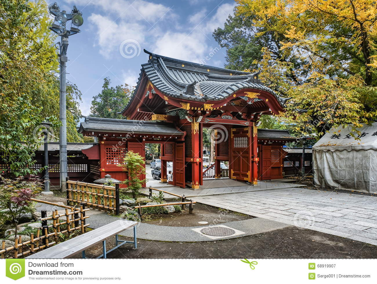 Entrance Gate To Chichibu Shrine, Chichibu, Saitama Prefecture, Japan. Editorial Photography ...