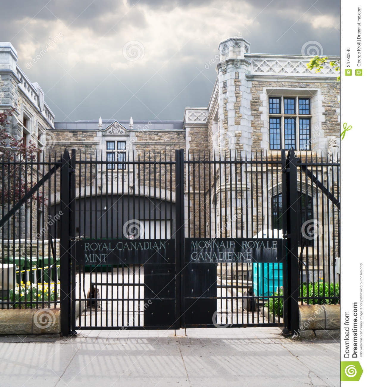 Entrance gate to the Royal Canadian Mint
