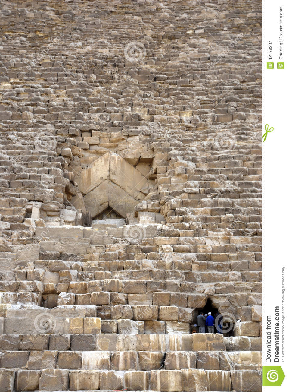 Entrance of great pyramid stock image image of temple for Interior piramide keops