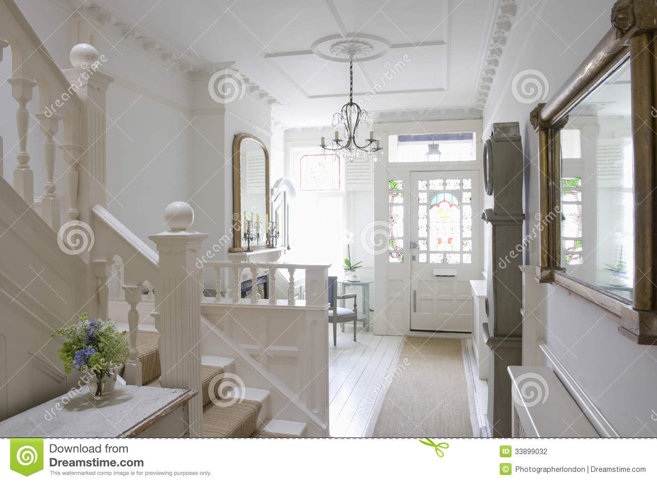 Entrance Foyer And Circulation In House : Entrance hall of house stock photo image decor