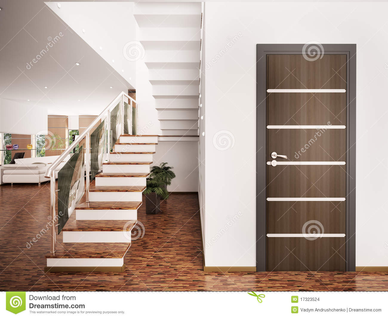 Entrance hall interior 3d render Stock Images. Entrance Hall Interior 3d Render Stock Photography   Image  34265262