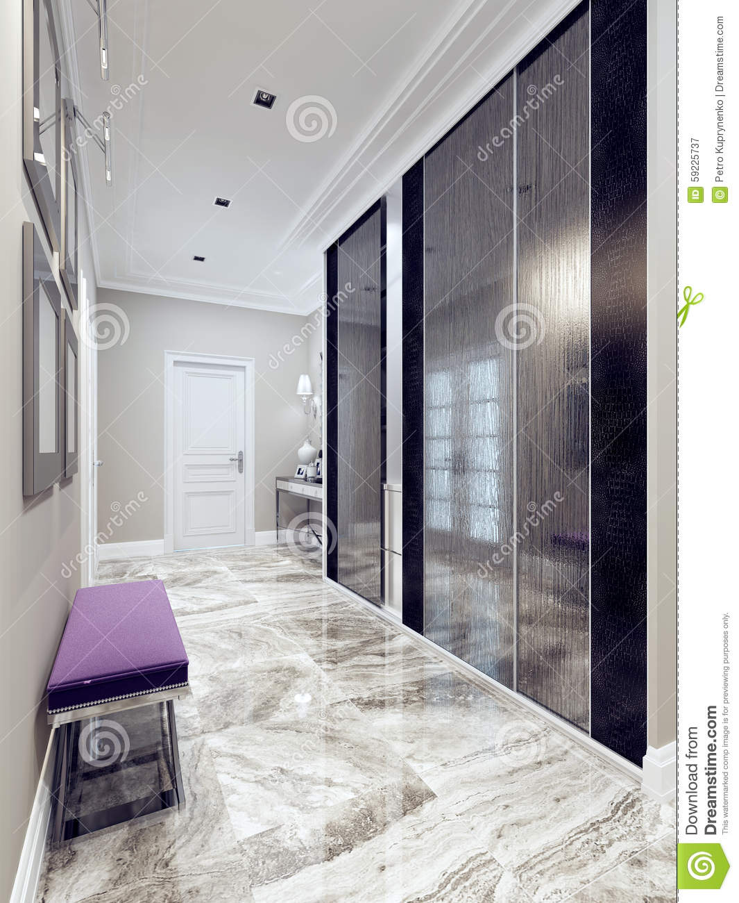 Entrance Hall Modern Style Stock Illustration Image