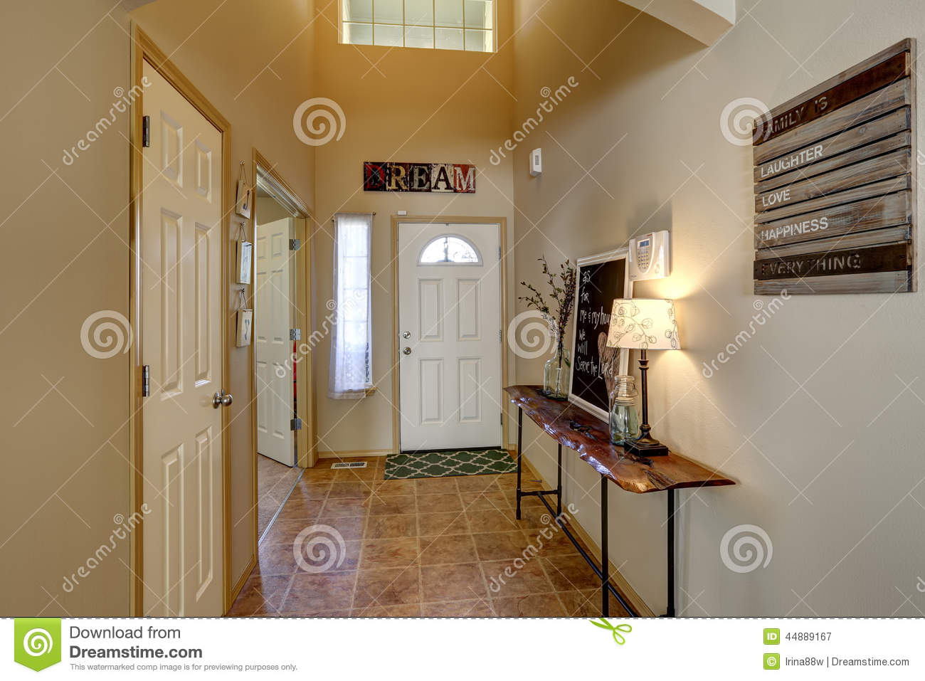 Entrance Hallway With High Ceiling Stock Image Image Of Nobody