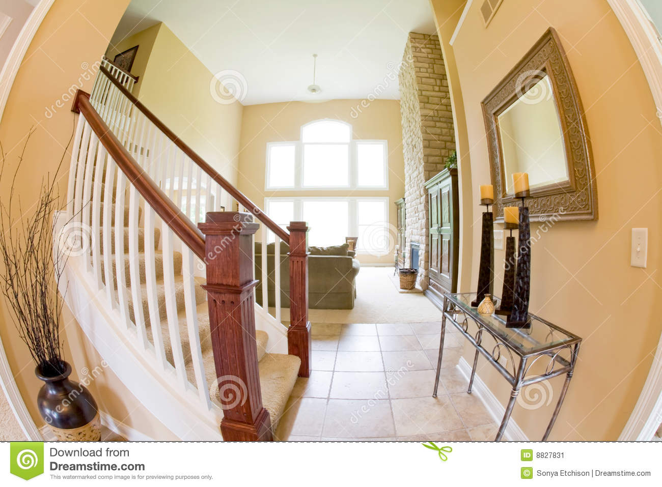 Entrance Into Living Room Stock Image