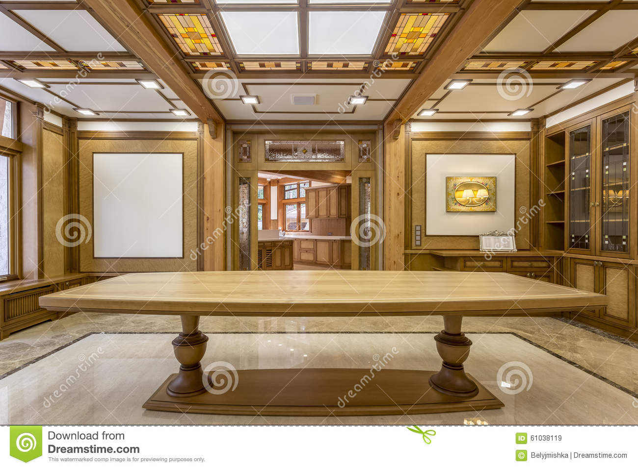 Entrance Into The Living Room Made Of Wood Stock Photo