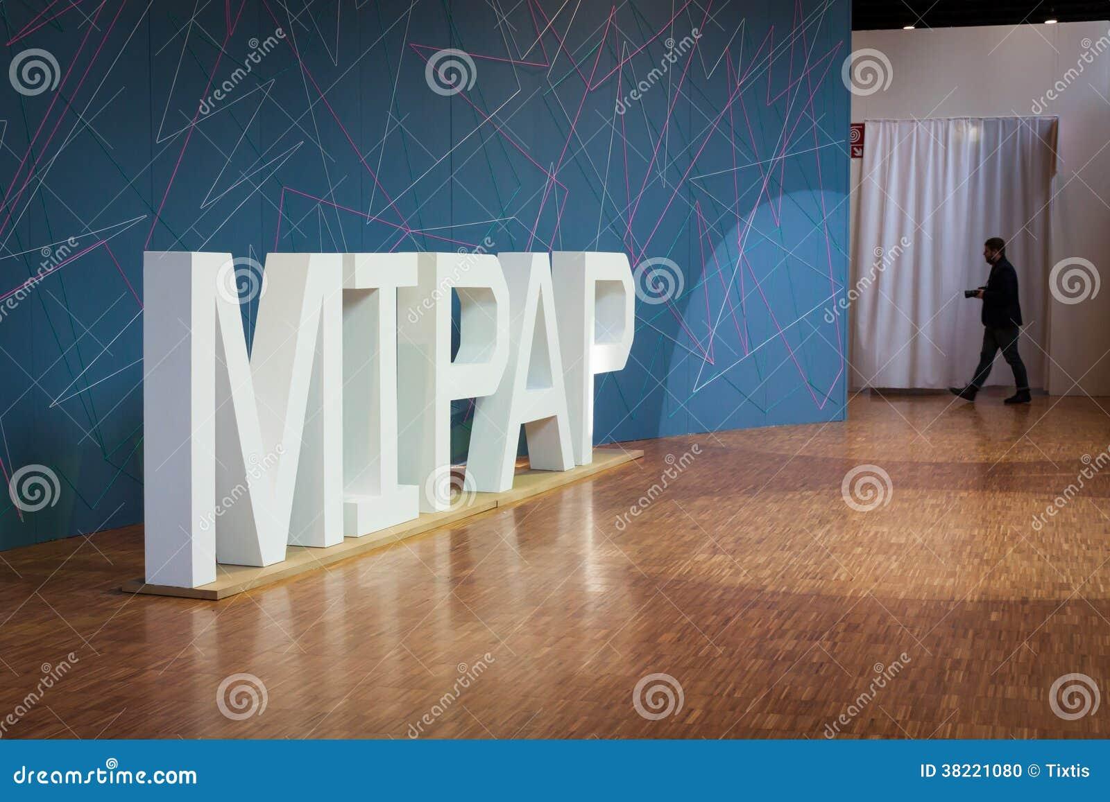 Entrance Trade Show Plexi : Entrance at mipap trade show in milan italy editorial