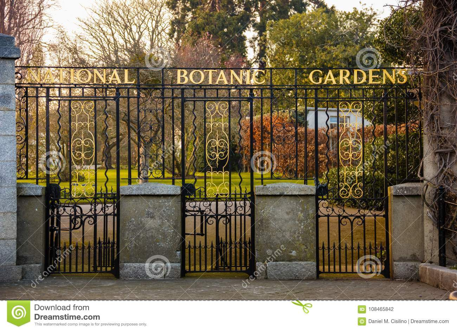 Entrance. National Botanic Gardens. Dublin. Ireland Stock Photo ...