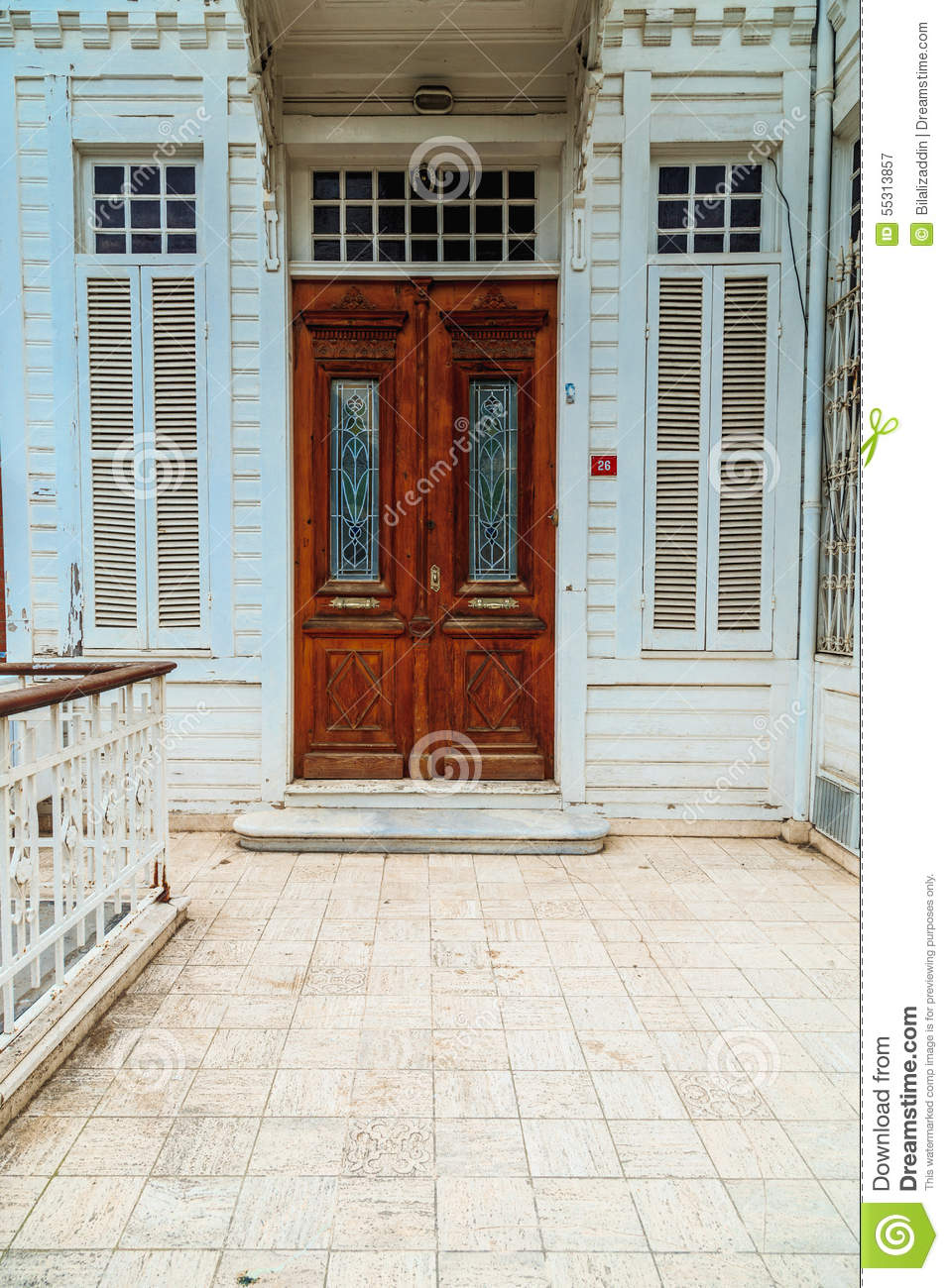 Entrance of old house for Old house classics