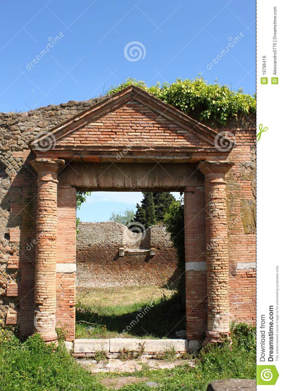 Entrance Of An Old Roman House Royalty Free Stock Image ...