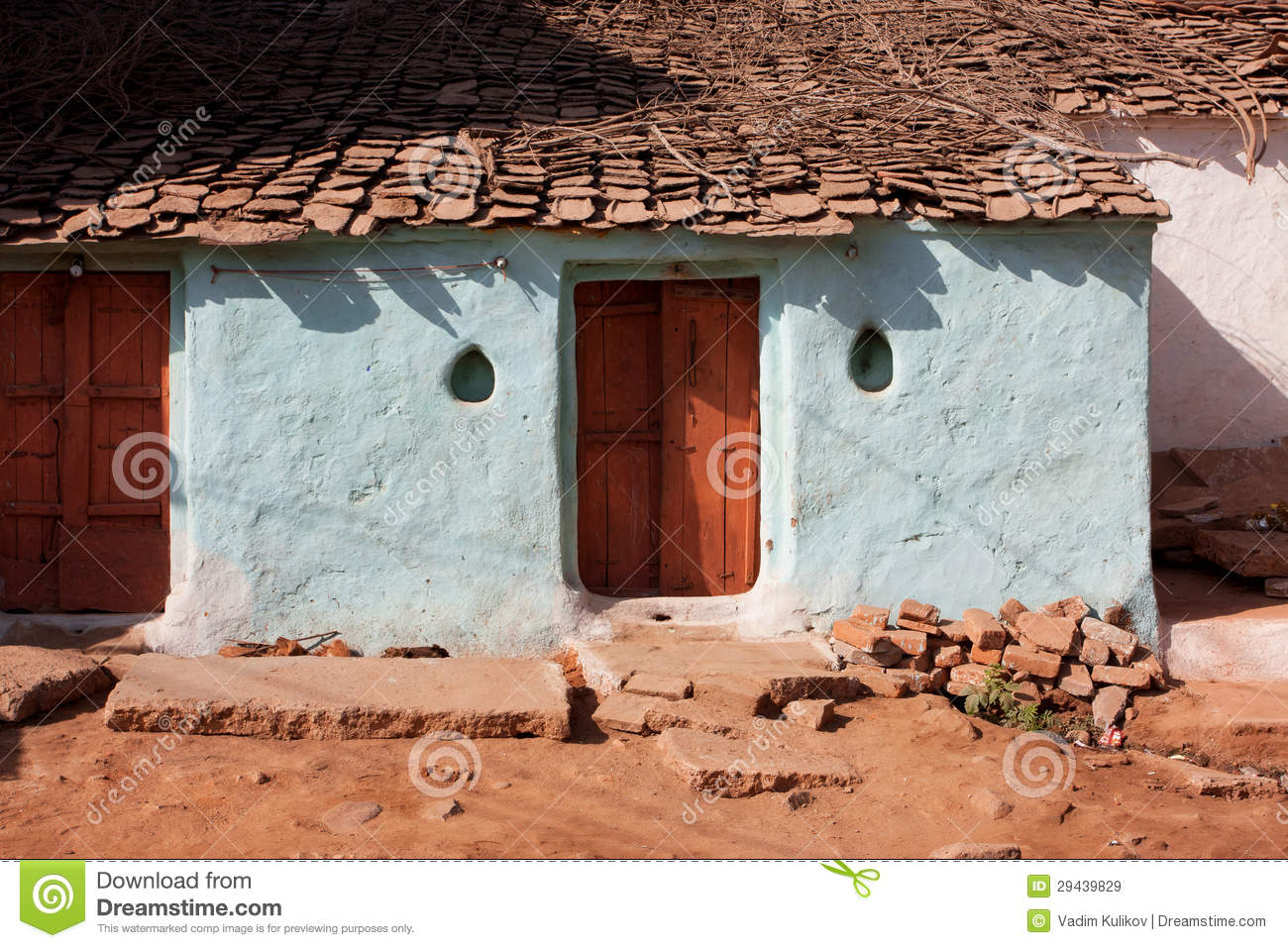 Entrance Of The Old Village House Stock Image - Image of