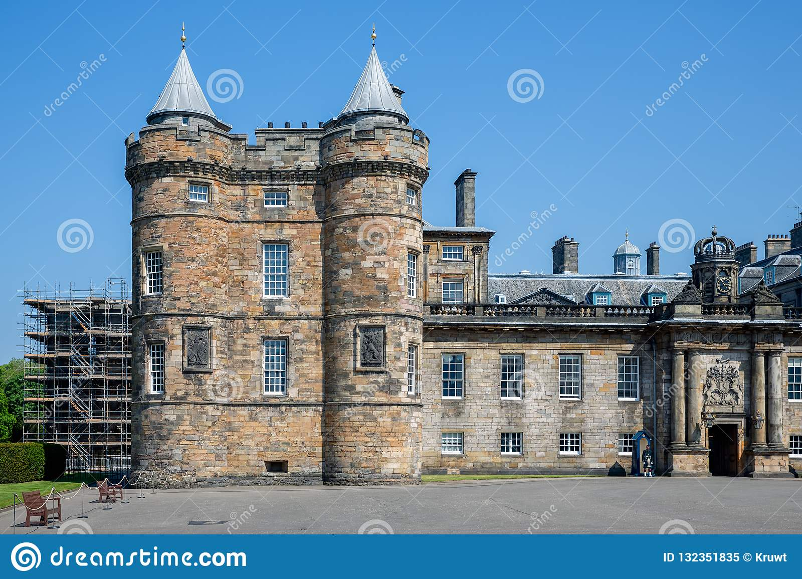 Palace of Holyrood house Edinburgh, official residence Monarchy in Scotland