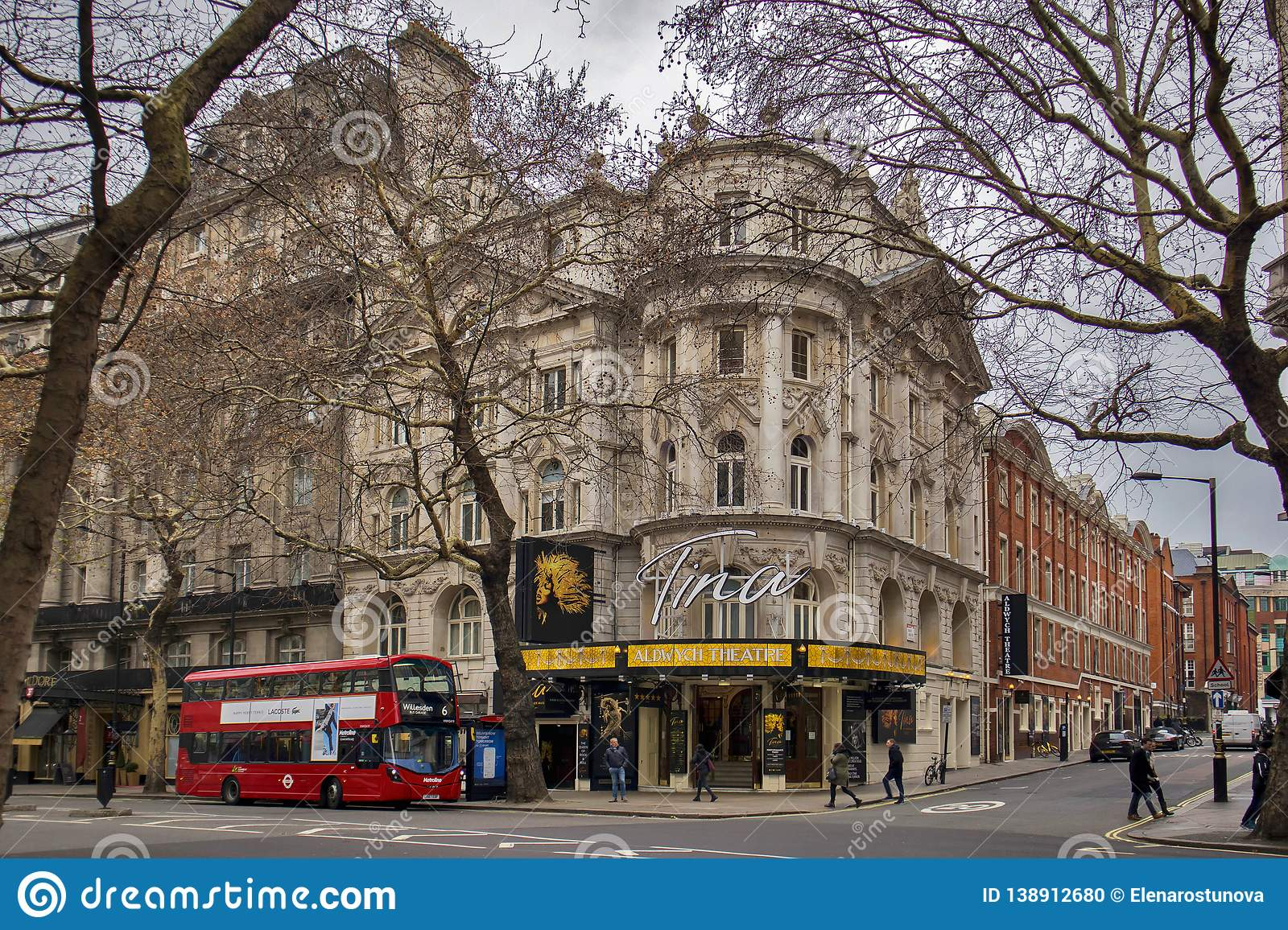 The Entrance To The Aldwych Theatre Where The Musical Tina