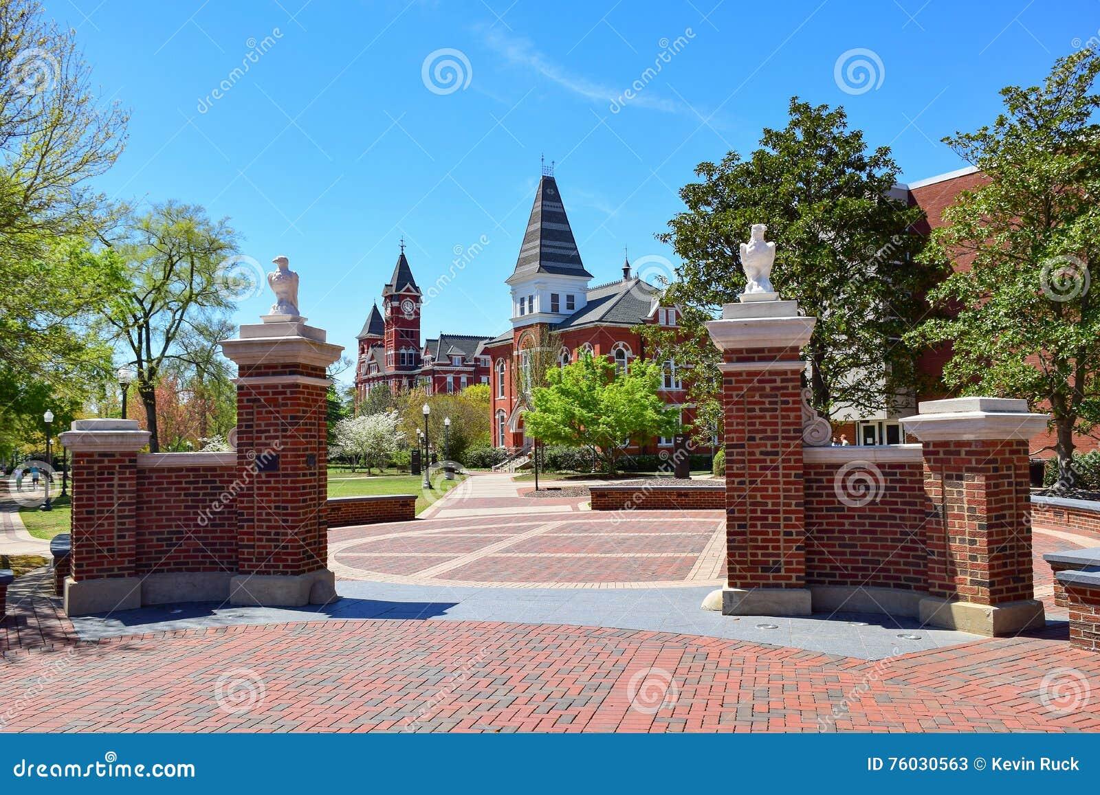 Entrance To Auburn University Stock Image - Image of