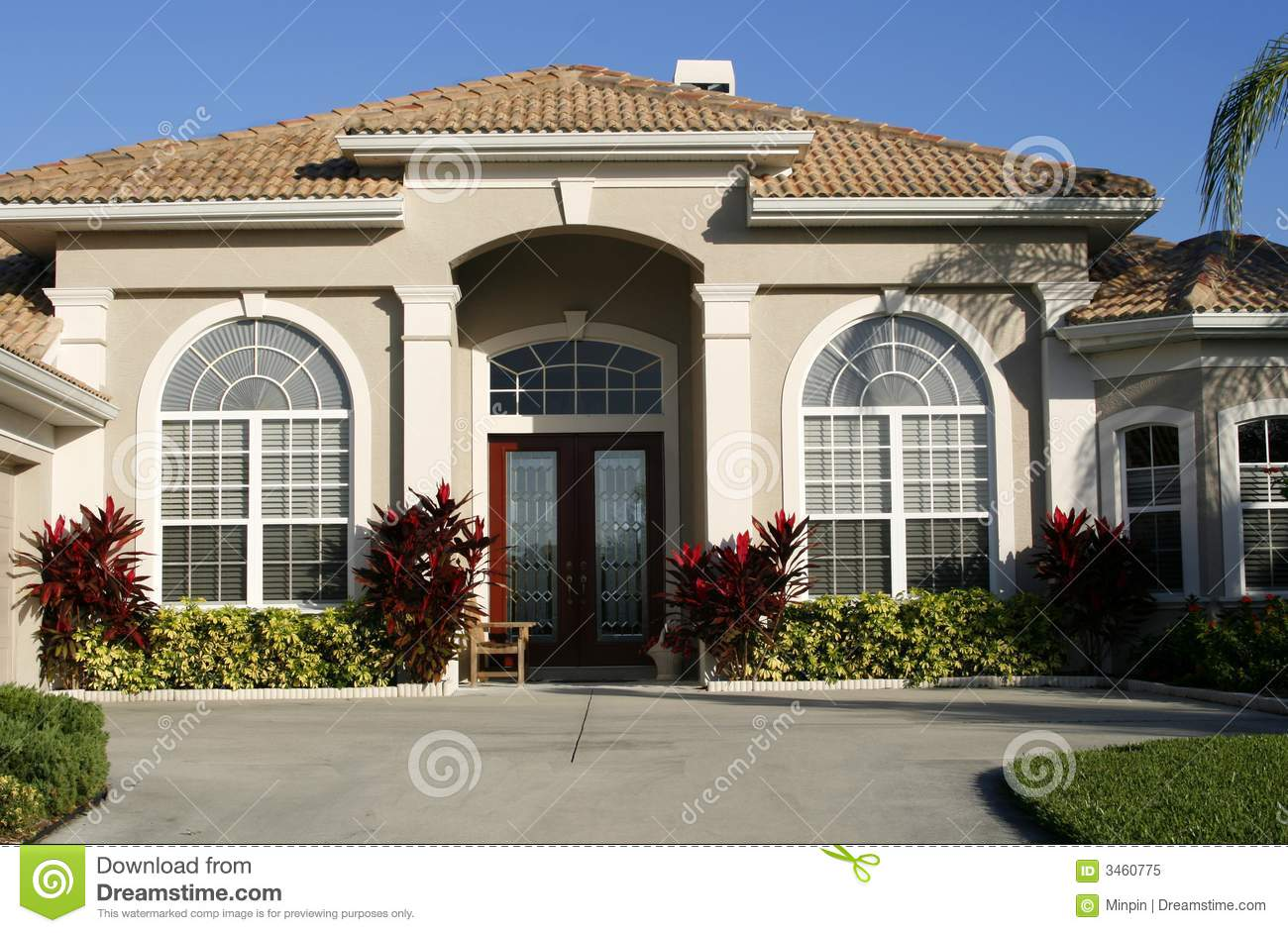 Entrance To Beautiful Home Royalty Free Stock Photo