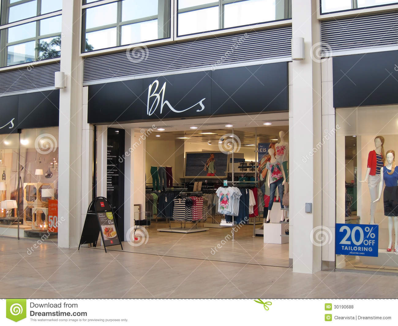 Home Design Outlet Center Locations Bhs Store Entrance Editorial Stock Photo Image 30190688