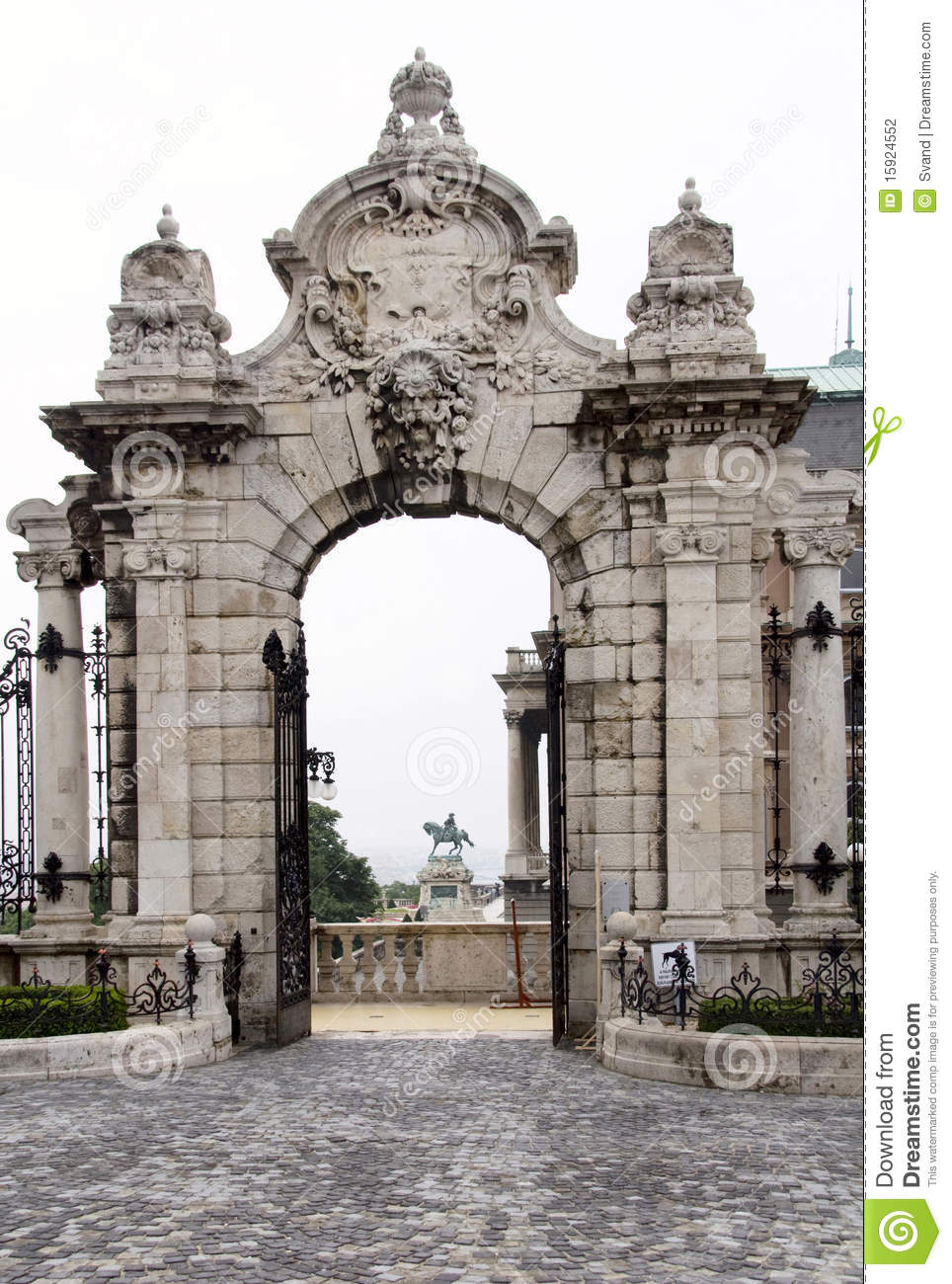 Entrance To The Budapest Castle Stock Photography - Image: 15924552
