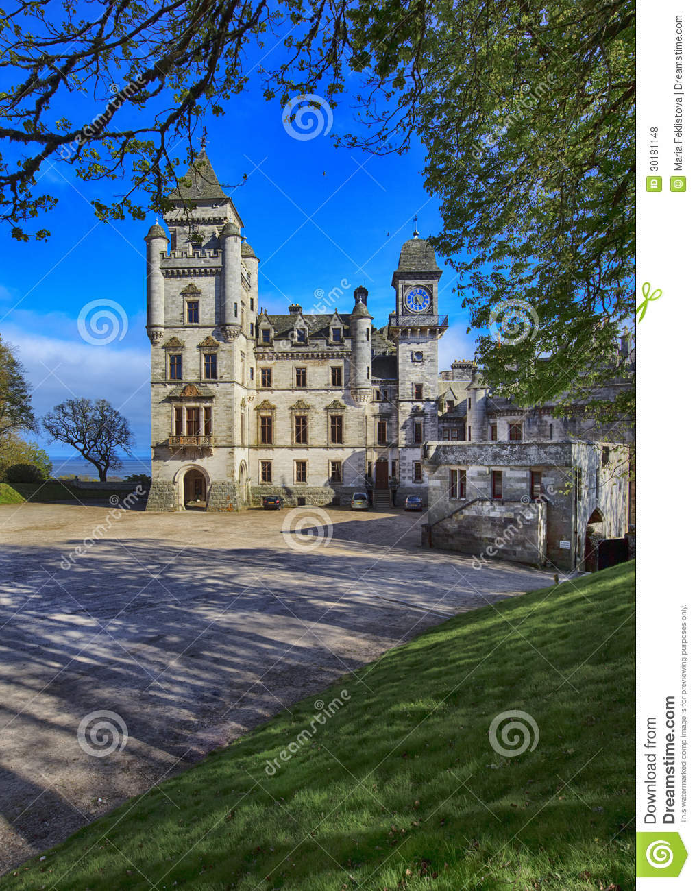 Dunrobin Castle Is A Stately Home In Sutherland In The