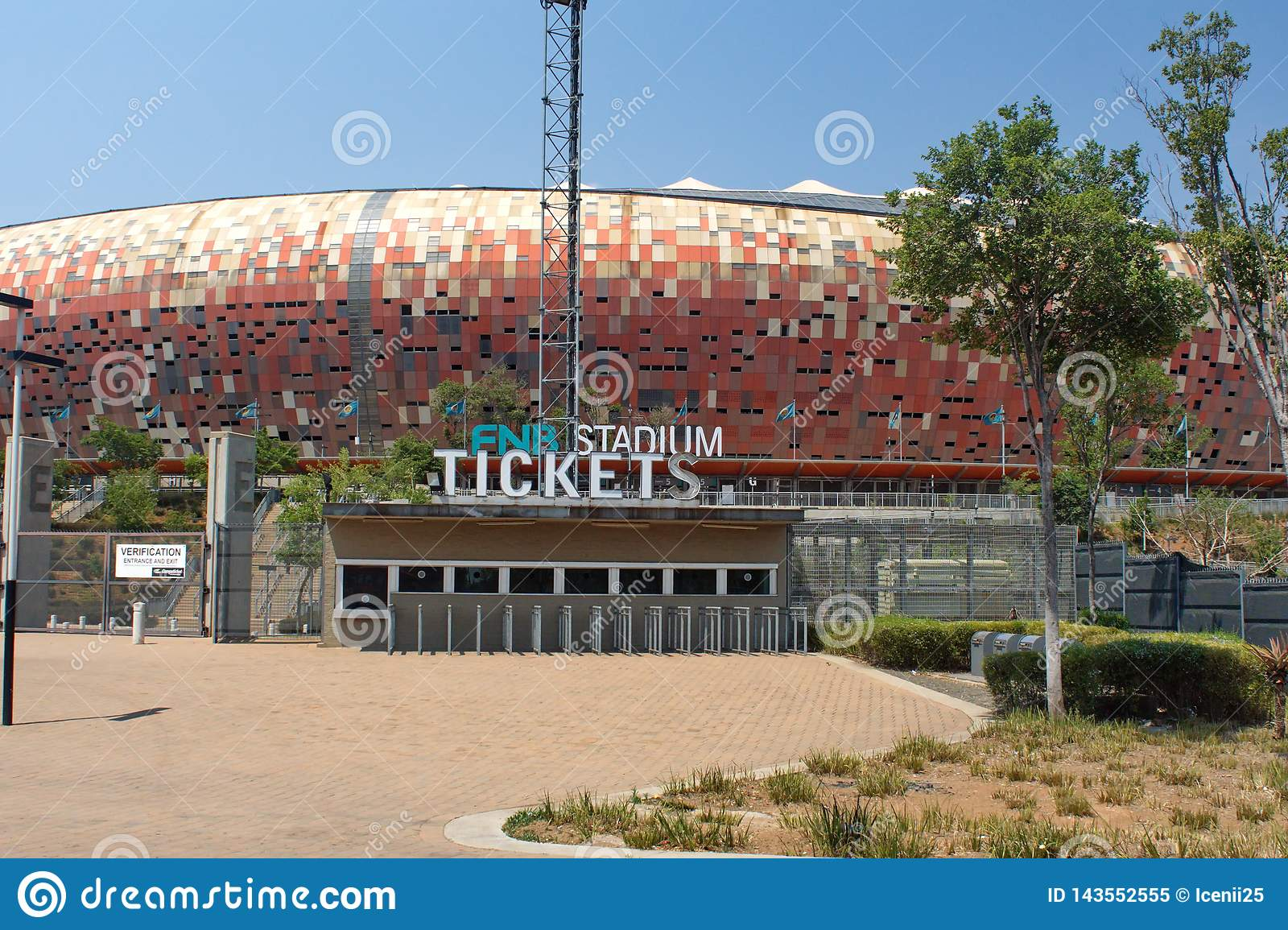Entrance To The FNB Stadium Editorial Image - Image of