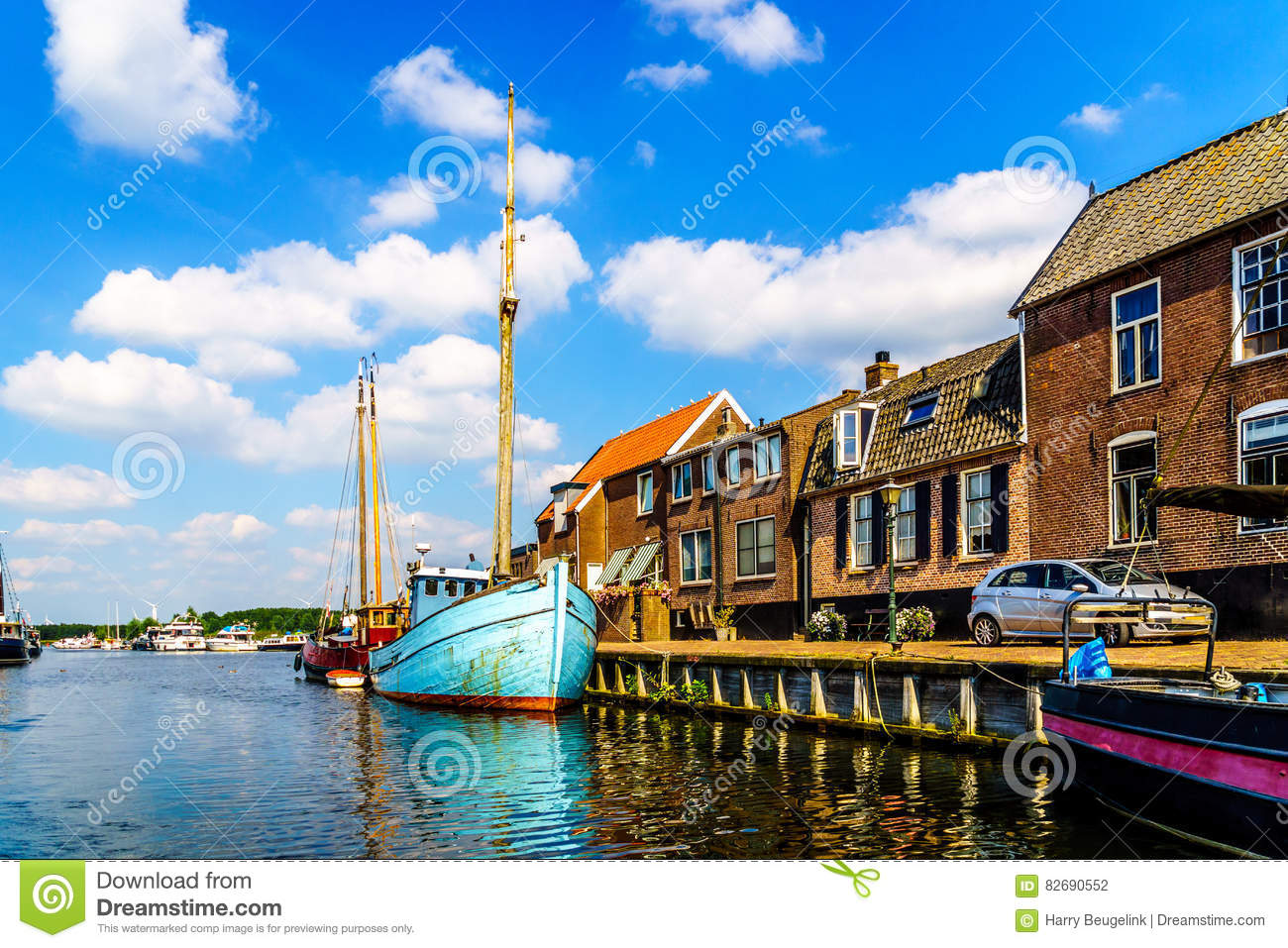 Entrance to the Harbor of the Historic Fishing Village of Bunschoten-Spakenburg