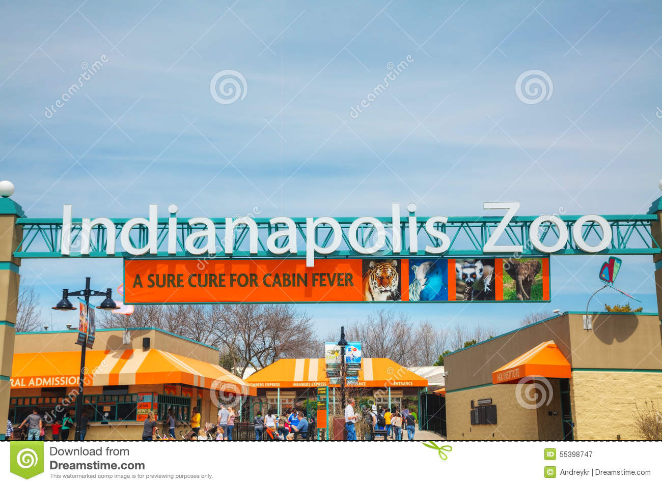 Entrance To The Indianapolis Zoo Editorial Photography