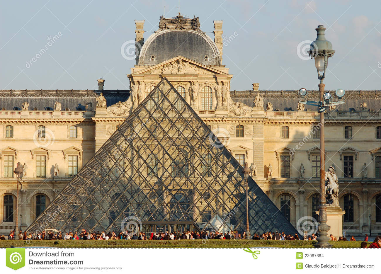 Entrance to the Louvre Museum in Paris