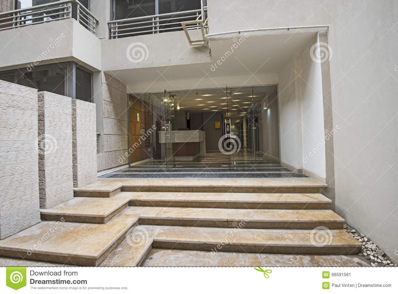 Download Entrance To A Luxury Apartment Building Stock Image   Image Of  Floor, Architecture: