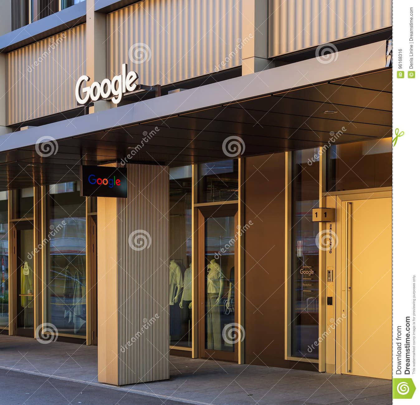 Google office switzerland Video Entrance To The Office Of The Google Company On Gustav Gull Square In Zurich Switzerland Dreamstimecom Entrance To The Office Of The Google Company On Gustav Gull Square