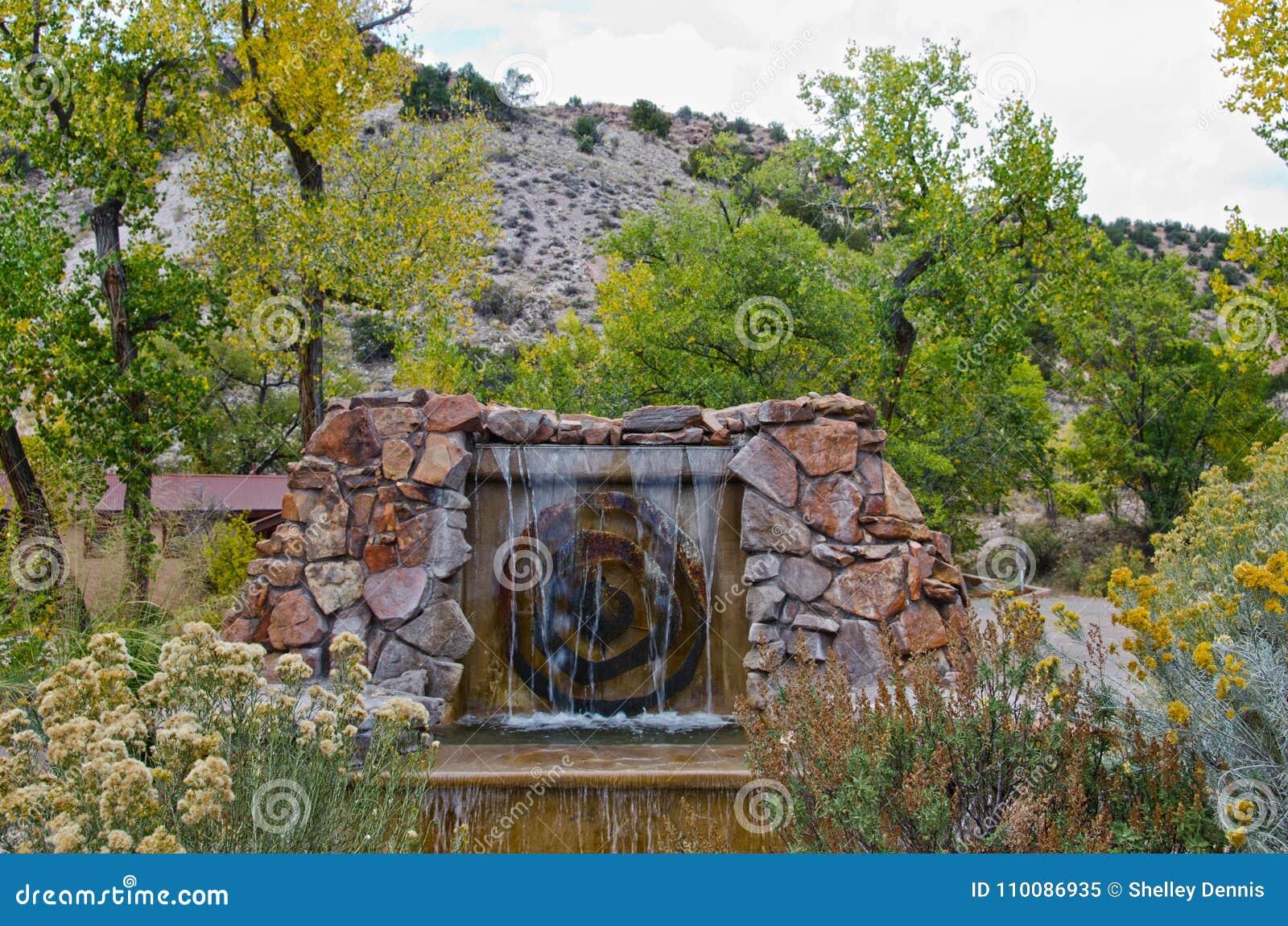Ojo Caliente Hot springs New Mexico Stock Photo: 34092884