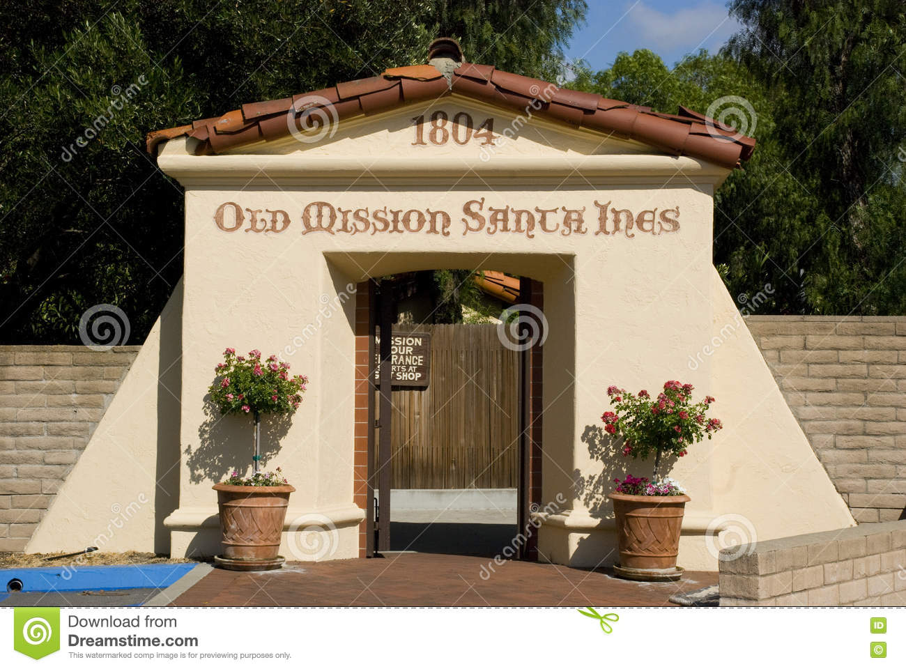 Old Mission Santa Inés (Ynez) Royalty Free Stock Photography ...