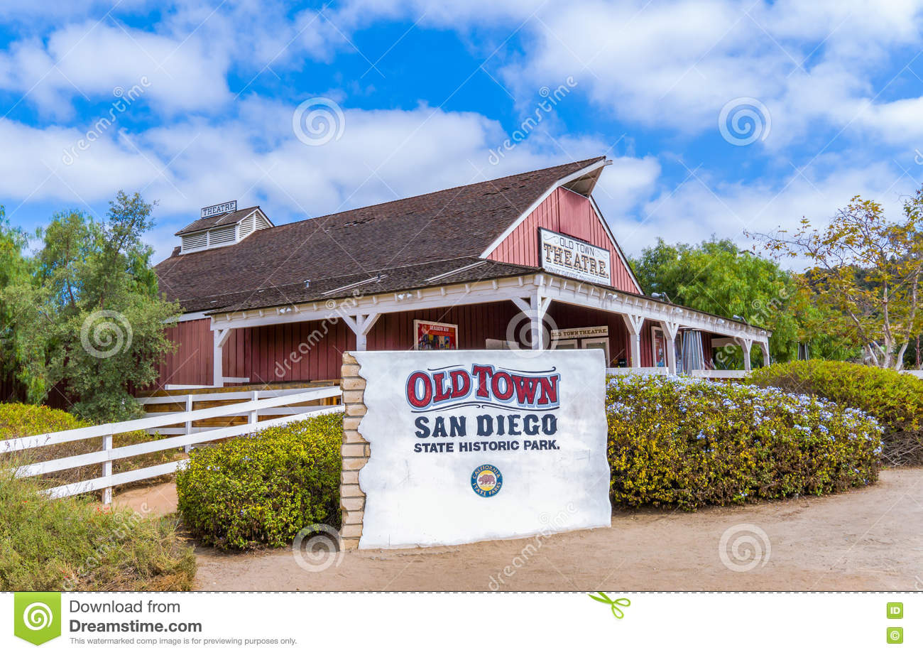 Entrance To Old Town San Diego State Historic Park Editorial Photography Image 77160062