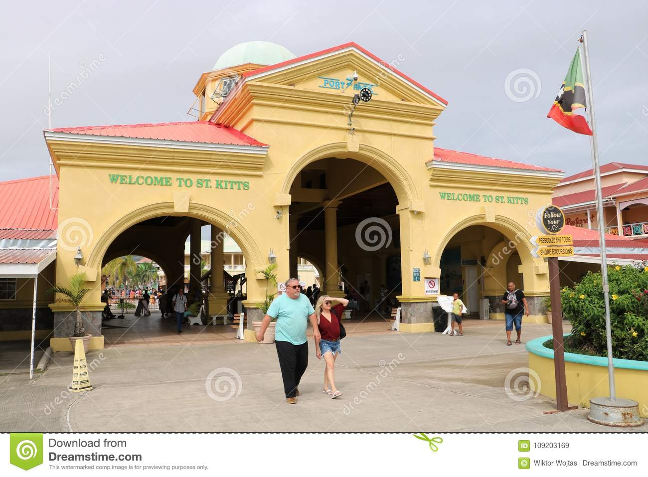 port of basseterre st kitts and nevis editorial stock image image