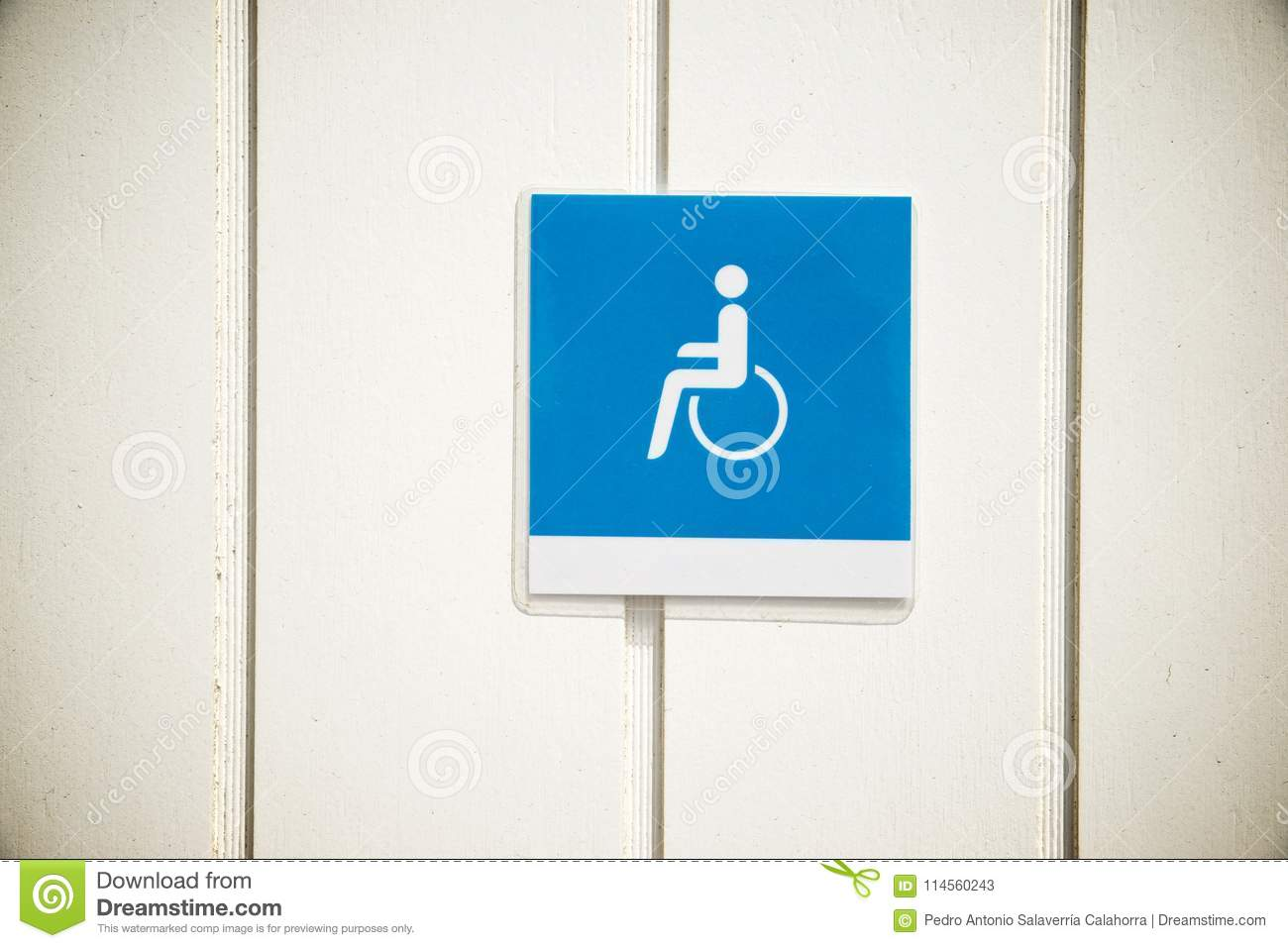 Entrance Sign For The Disabled Stock Image