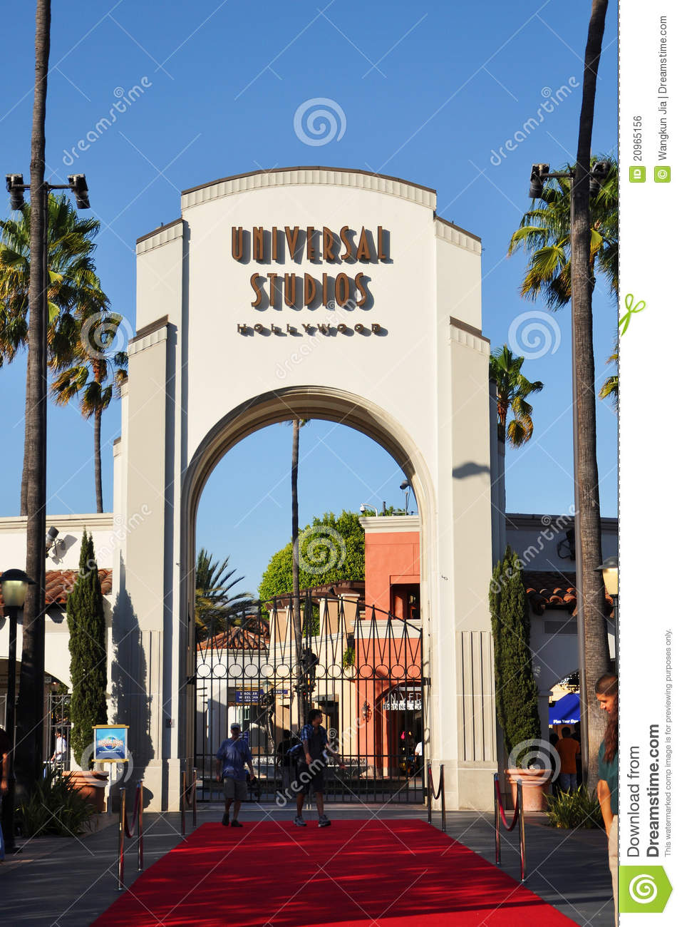 Entrance Of Universal Studios Hollywood Editorial Photo