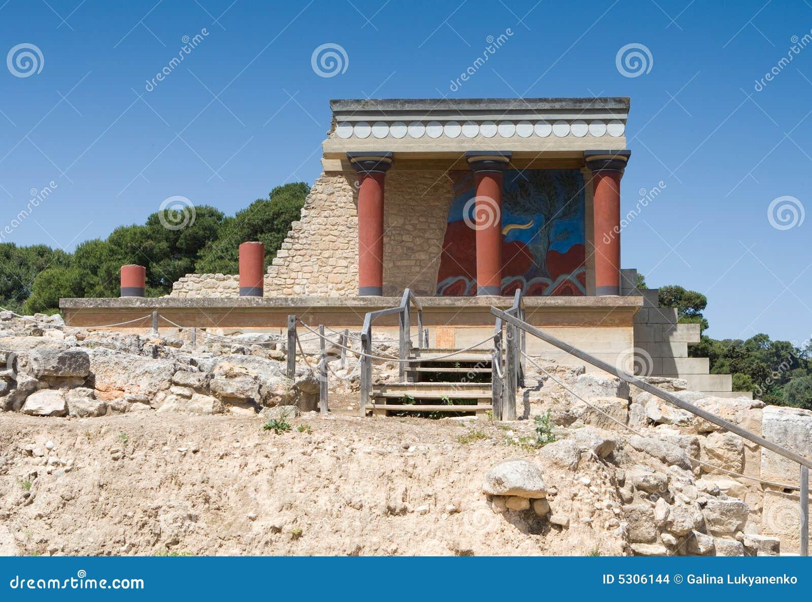 Download Entrata Del Nord Di Knossos Fotografia Stock - Immagine di destinazioni, architettura: 5306144